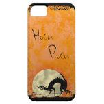 Spooky Halloween Black Cat iPhone 5 Case-Mate Case