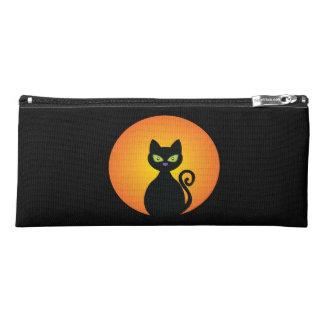 Spooky Halloween Black Cat Pencil Case