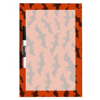 Spooky Halloween Brown Bats Pattern Dry Erase Board