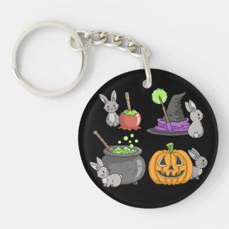 Spooky Halloween Bunnies Keychain