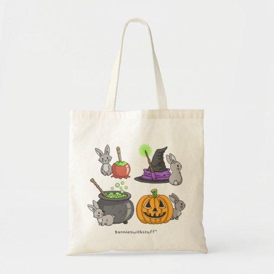 Spooky Halloween Bunnies Tote Bag