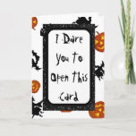 """Spooky Halloween Card<br><div class=""""desc"""">Spooky Halloween Card with witches and pumpkins and a ghost on the inside saying,  &quot;BOO!&quot;</div>"""