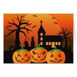 Spooky Halloween Carved Pumpkins Card