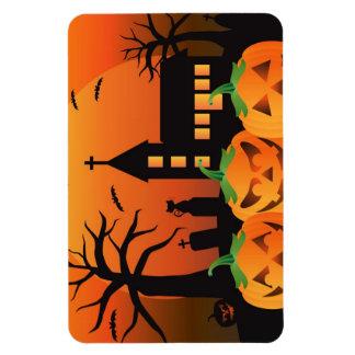 Spooky Halloween Carved Pumpkins Magnet