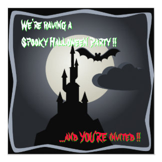 Spooky Halloween Castle Party invitation