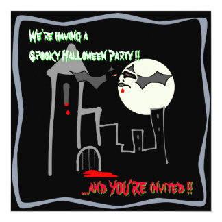 Spooky Halloween Castle Party invitation