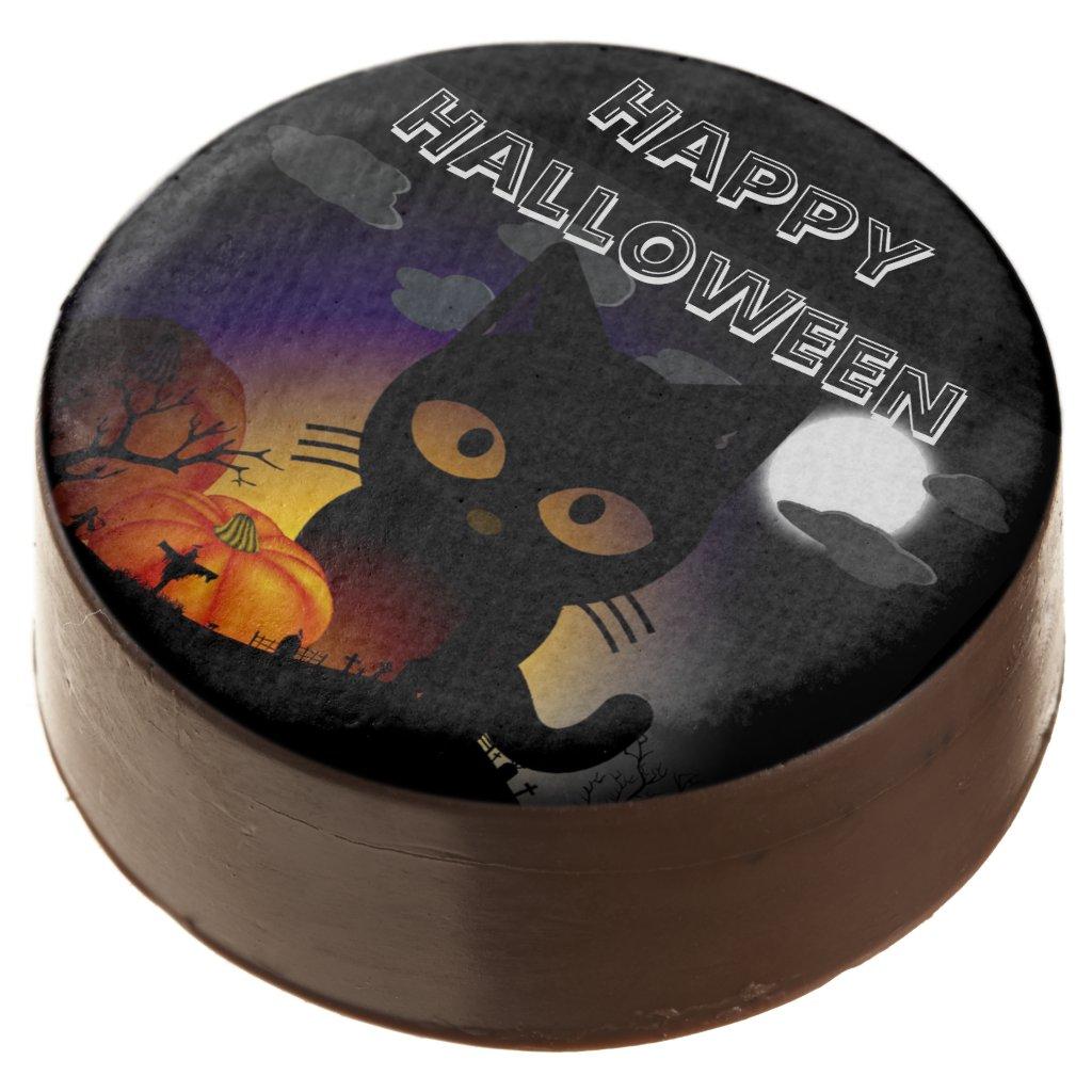 Spooky Halloween Cat Oreo Cookie