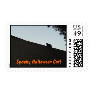 Spooky Halloween Cat! Postage Stamps