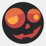 Spooky Halloween Classic Round Sticker