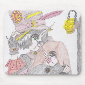 Spooky Halloween Couple Mouse Pad