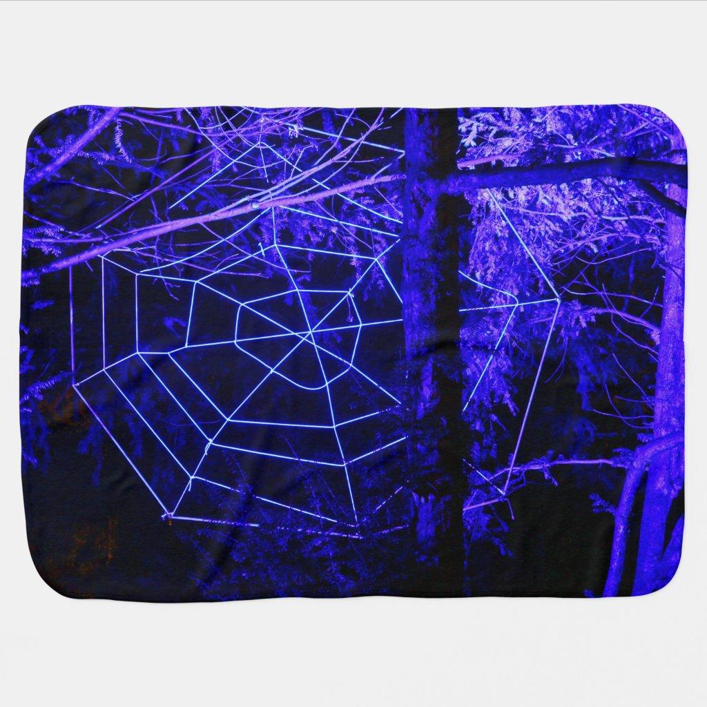 Spooky Halloween Forest Stroller Blankets