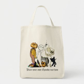 Spooky Halloween friends Organic bag bag