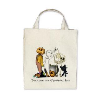Spooky Halloween friends Organic bag