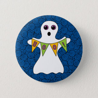 Spooky Halloween Ghost Boo Button