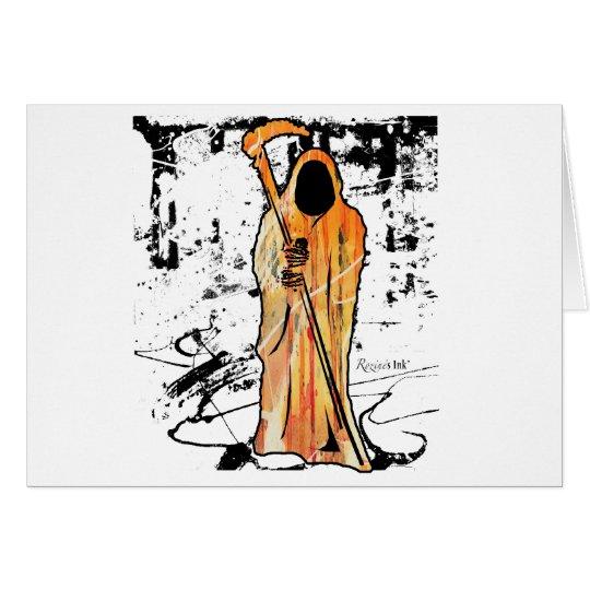 Spooky Halloween Grim Reaper of Death Card