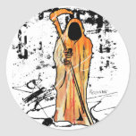 Spooky Halloween Grim Reaper of Death Classic Round Sticker