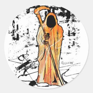 Spooky Halloween Grim Reaper of Death Sticker