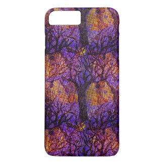 Spooky Halloween Halftone Design on iPhone 7 Case