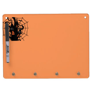 Spooky Halloween Haunted House Dry-Erase Whiteboards