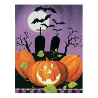 Spooky Halloween Haunted House Postcard