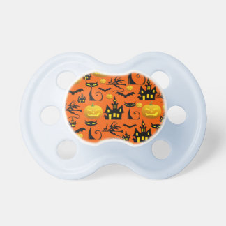 Spooky Halloween Haunted House with Bats Black Cat Baby Pacifiers