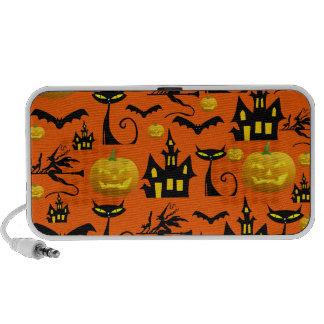 Spooky Halloween Haunted House with Bats Black Cat Mp3 Speaker