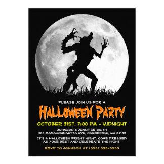 Spooky Halloween Horror Werewolf at the Full Moon Custom Announcement