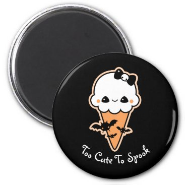 Halloween Themed Spooky Halloween Ice Cream Cone Magnet