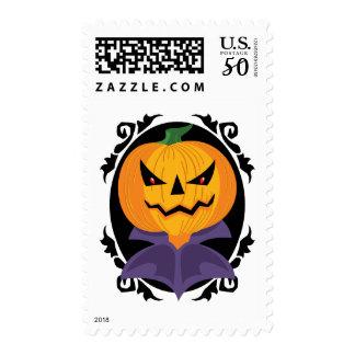 Spooky Halloween Jack-o-Lantern Postage Stamp