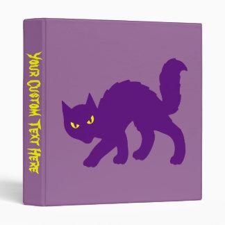 Spooky Halloween Kitty Cat 3 Ring Binder