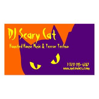 Spooky Halloween Kitty Cat Business Card