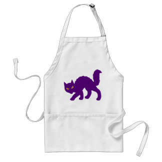 Spooky Halloween Kitty Cat Scary Evil Adult Apron
