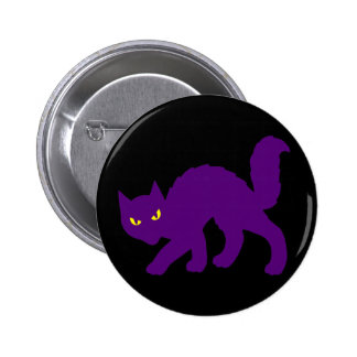 Spooky Halloween Kitty Cat Scary Evil Button