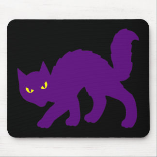 Spooky Halloween Kitty Cat Scary Evil Mouse Pad