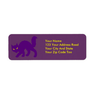Spooky Halloween Kitty Cat Scary Label