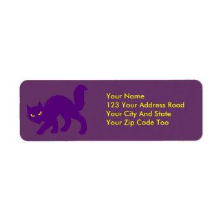 Spooky Halloween Kitty Cat Scary Label