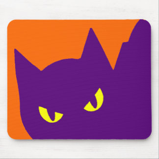 Spooky Halloween Kitty Cat Scary Mouse Pad