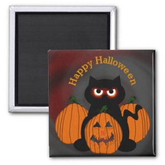 Spooky Halloween Kitty magnet
