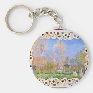 Spooky Halloween Monet Springtime In Giverny Keychains