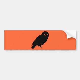 Spooky Halloween Owl Bumper Stickers