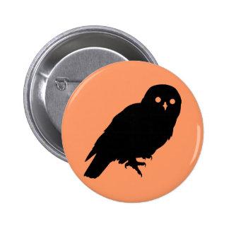 Spooky Halloween Owl Pinback Buttons