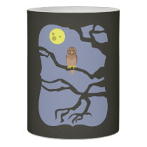 Spooky Halloween Owl Flameless Candle