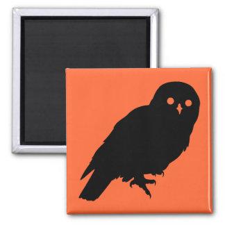 Spooky Halloween Owl Refrigerator Magnet