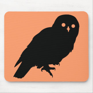Spooky Halloween Owl Mouse Pad