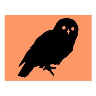 Spooky Halloween Owl Postcard
