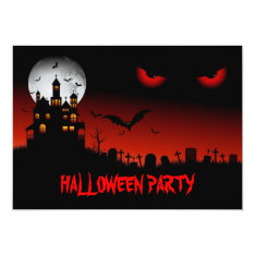 Spooky Halloween Party Invitation at Zazzle