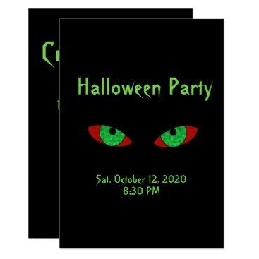 Halloween Themed Spooky Halloween Party Invitations