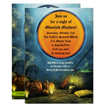 Halloween Themed Spooky Halloween Party Invitations
