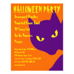 """Spooky Halloween Party Kitty Cat Scary 8.5"""" X 11"""" Flyer"""