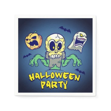 Halloween Themed Spooky Halloween Party Napkin
